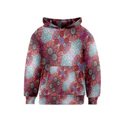Floral Flower Wallpaper Created From Coloring Book Colorful Background Kids  Pullover Hoodie