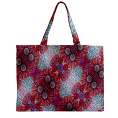Floral Flower Wallpaper Created From Coloring Book Colorful Background Zipper Mini Tote Bag