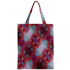 Floral Flower Wallpaper Created From Coloring Book Colorful Background Zipper Classic Tote Bag
