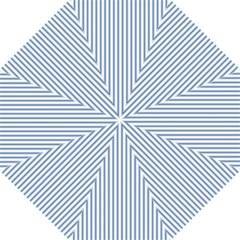 Mattress Ticking Narrow Striped Pattern in Dark Blue and White Golf Umbrellas