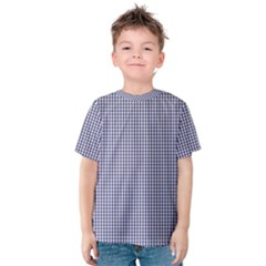 USA Flag Blue and White Gingham Checked Kids  Cotton Tee