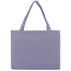 USA Flag Blue and White Gingham Checked Mini Tote Bag