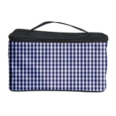 USA Flag Blue and White Gingham Checked Cosmetic Storage Case