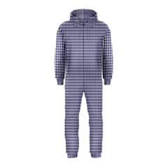 USA Flag Blue and White Gingham Checked Hooded Jumpsuit (Kids)