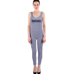 USA Flag Blue and White Gingham Checked OnePiece Catsuit