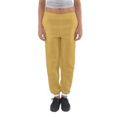 Designer Fall 2016 Color Trends-Spicy Mustard Yellow Women s Jogger Sweatpants