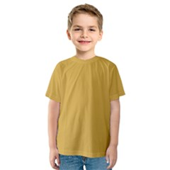 Designer Fall 2016 Color Trends-Spicy Mustard Yellow Kids  Sport Mesh Tee