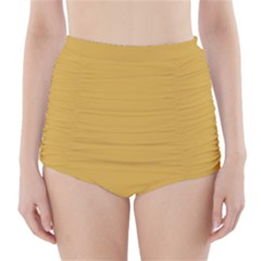 Designer Fall 2016 Color Trends-Spicy Mustard Yellow High-Waisted Bikini Bottoms