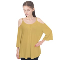 Designer Fall 2016 Color Trends-Spicy Mustard Yellow Flutter Tees