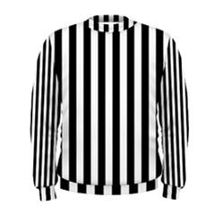 Large Black and White Cabana Stripe Men s Sweatshirt