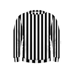 Large Black and White Cabana Stripe Kids  Sweatshirt