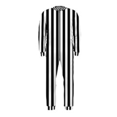 Large Black and White Cabana Stripe OnePiece Jumpsuit (Kids)