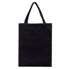 Black and Grey Perforated PInhole Carbon Fiber Classic Tote Bag