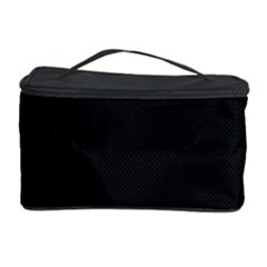 Black and Grey Perforated PInhole Carbon Fiber Cosmetic Storage Case