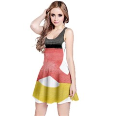 Pretzel in Hand-Painted Water Colors of German Flag Reversible Sleeveless Dress