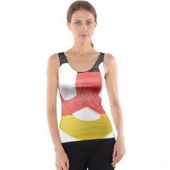 Pretzel in Hand-Painted Water Colors of German Flag Tank Top