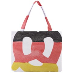 Pretzel in Hand-Painted Water Colors of German Flag Mini Tote Bag