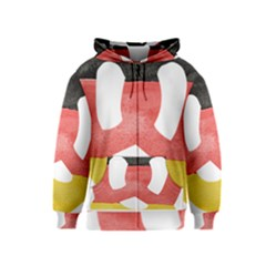 Pretzel in Hand-Painted Water Colors of German Flag Kids  Zipper Hoodie