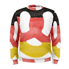 Pretzel in Hand-Painted Water Colors of German Flag Men s Sweatshirt