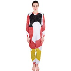 Pretzel in Hand-Painted Water Colors of German Flag OnePiece Jumpsuit (Ladies)