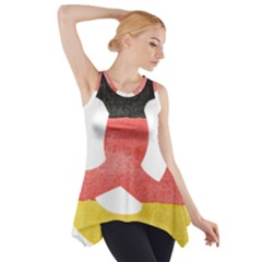 Pretzel in Hand-Painted Water Colors of German Flag Side Drop Tank Tunic