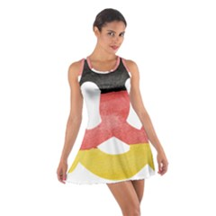 Pretzel in Hand-Painted Water Colors of German Flag Cotton Racerback Dress