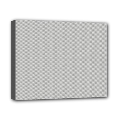 Grey and White simulated Carbon Fiber Canvas 10  x 8