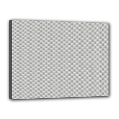 Grey And White Simulated Carbon Fiber Canvas 16  X 12