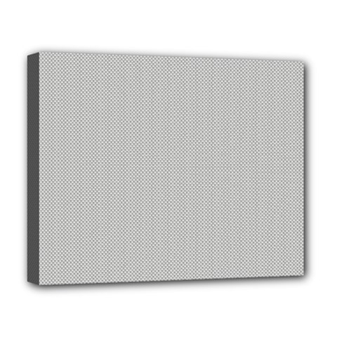 Grey and White simulated Carbon Fiber Deluxe Canvas 20  x 16