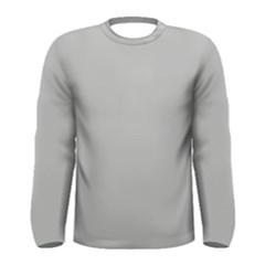 Grey and White simulated Carbon Fiber Men s Long Sleeve Tee