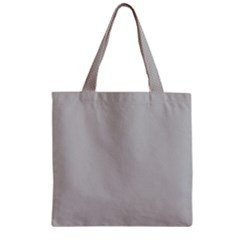 Grey and White simulated Carbon Fiber Zipper Grocery Tote Bag