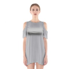 Grey and White simulated Carbon Fiber Shoulder Cutout One Piece