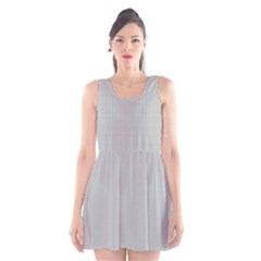 Grey and White simulated Carbon Fiber Scoop Neck Skater Dress