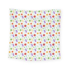 Decorative Spring Flower Pattern Square Tapestry (small)