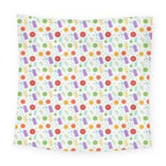 Decorative Spring Flower Pattern Square Tapestry (large)
