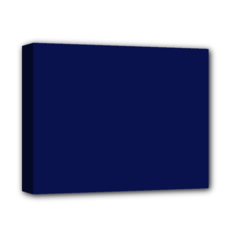 Classic Navy Blue Solid Color Deluxe Canvas 14  x 11