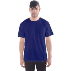 Classic Navy Blue Solid Color Men s Sport Mesh Tee