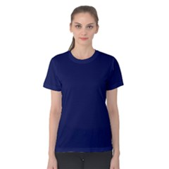 Classic Navy Blue Solid Color Women s Cotton Tee