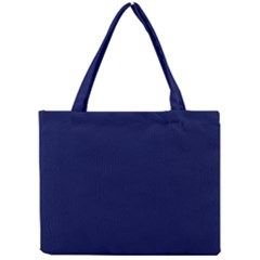 Classic Navy Blue Solid Color Mini Tote Bag