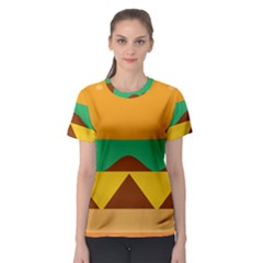 Hamburger Bread Food Cheese Women s Sport Mesh Tee