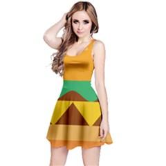 Hamburger Bread Food Cheese Reversible Sleeveless Dress