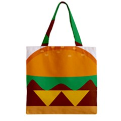 Hamburger Bread Food Cheese Zipper Grocery Tote Bag