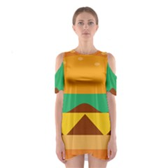 Hamburger Bread Food Cheese Shoulder Cutout One Piece