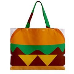 Hamburger Bread Food Cheese Medium Zipper Tote Bag