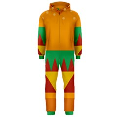 Burger Bread Food Cheese Vegetable Hooded Jumpsuit (men)