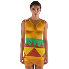 Burger Bread Food Cheese Vegetable Wrap Front Bodycon Dress