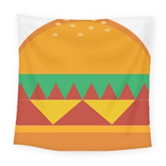Burger Bread Food Cheese Vegetable Square Tapestry (large)