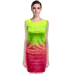 Colorful Abstract Triangles Pattern  Classic Sleeveless Midi Dress