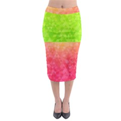 Colorful Abstract Triangles Pattern  Midi Pencil Skirt