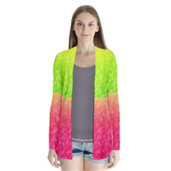 Colorful Abstract Triangles Pattern  Cardigans